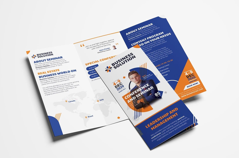 Corporate Event Tri-Fold Brochure Template