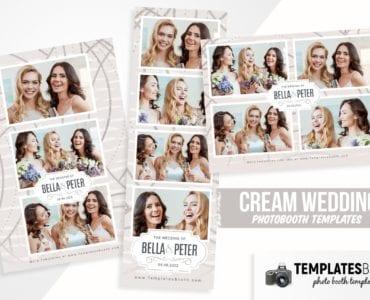 Cream Wedding Photo Booth Template