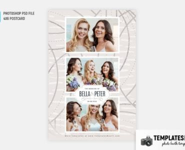 Cream Wedding Photo Booth Template (4x6 postcard)