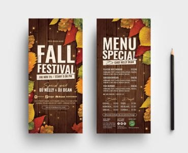 Fall Festival DL Card Templates