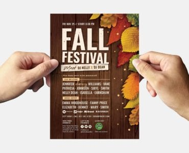 Fall Festival Flyer Template (Back)