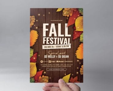 Fall Festival Flyer Template (Front)