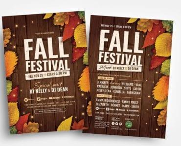Fall Festival Flyer Templates