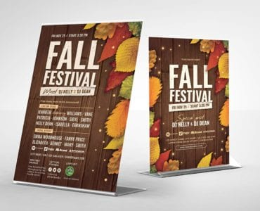 Fall Festival Table Tent Templates