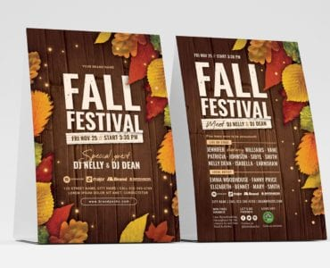 Fall Festival Table Tent Templates Front