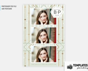 Forest Green Photo Booth Template (4x6 Postcard)