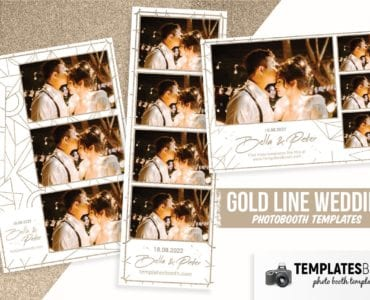Gold Line Wedding Photo Booth Template