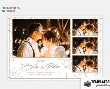 Gold Line Wedding Photo Booth Template (4x6 postcard landscape)