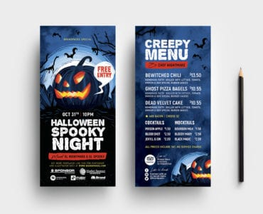 Halloween DL Flyer Template