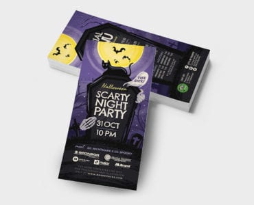 Halloween DL Flyers in PSD & Vector