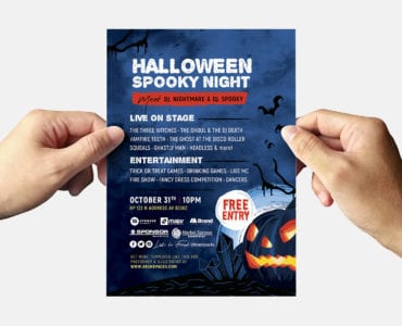Halloween Flyer Template (Back)