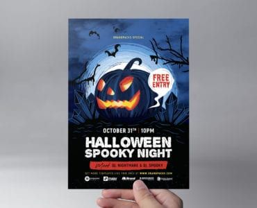 Halloween Flyer Template (Front)