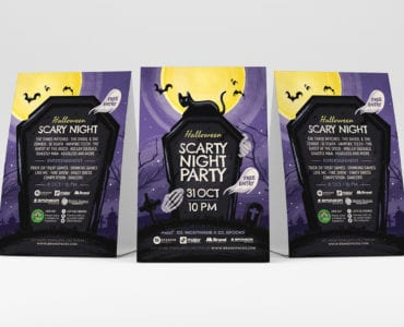 Halloween Flyers PSD & Vector