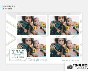 Light Green Photo Booth Template (4x6 postcard)