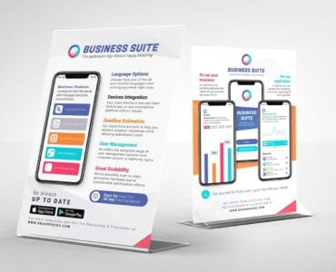 Mobile App Flyer/Table Tent Templates