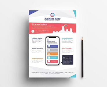 Mobile App Poster Template (Front)