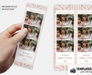 Pink Gold Photo Booth Template (2x6 photo strip)
