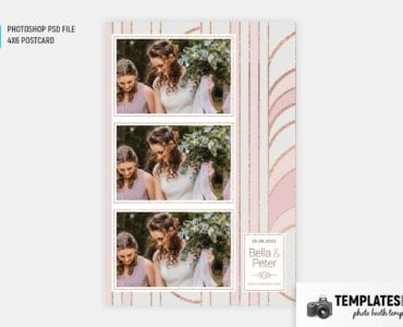 Pink Gold Photo Booth Template (4x6 postcard portrait)