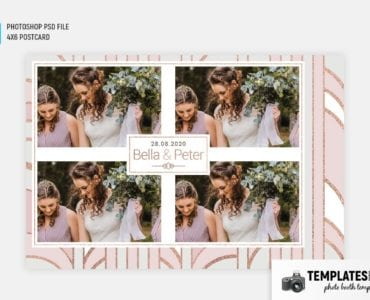 Pink Gold Photo Booth Template (4x6 postcard landscape)