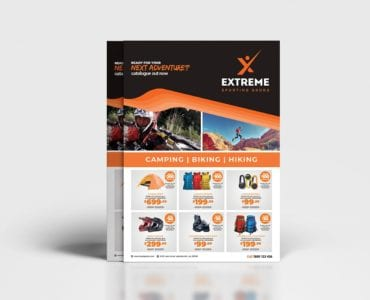 A4 Sports Outlet Poster Template