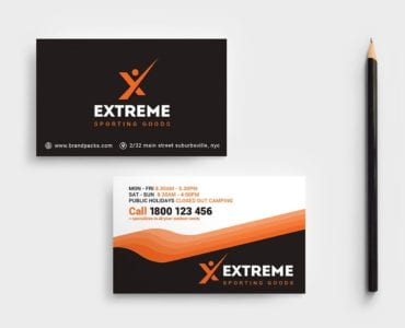 Sports Outlet Business Card Template