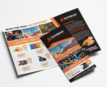 Sports Outlet Tri-Fold Brochure Template