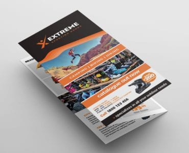 Sports Outlet Tri-Fold Brochure Template (Front)