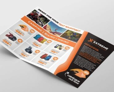 Sports Outlet Tri-Fold Brochure Template (inside)