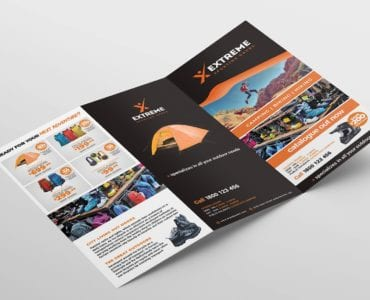 Sports Outlet Tri-Fold Brochure Template (Outside)