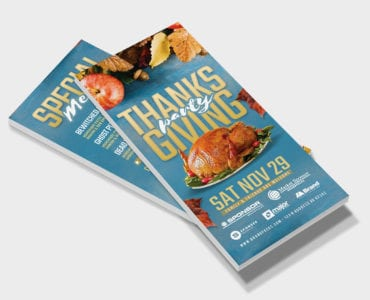 Thanksgiving DL Card Template