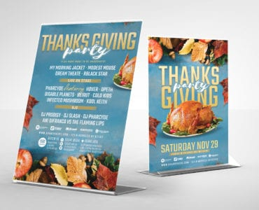 Thanksgiving Party Flyer Templates