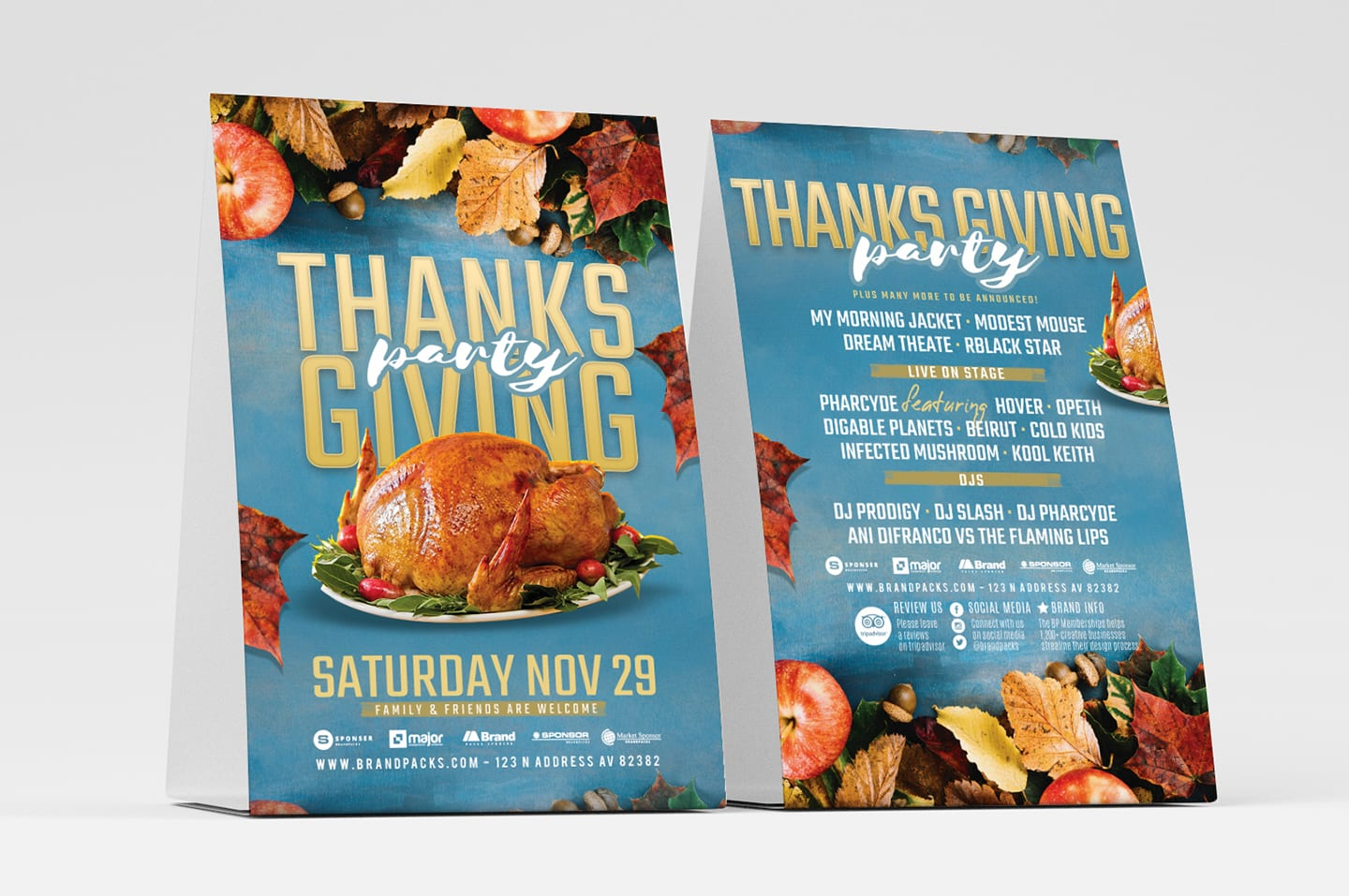 Thanksgiving Party Flyer Template