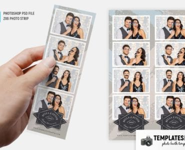 Uptown Party Photo Booth Template (2x6 photo strip)