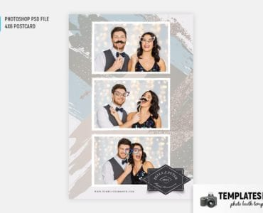 Uptown Party Photo Booth Template (4x6 postcard)