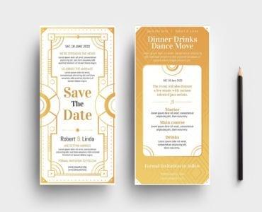Art Deco DL Card Templates