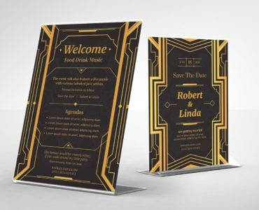 Art Deco Flyer/Table Tent Templates (back)