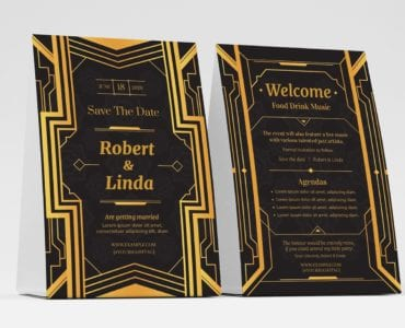 Art Deco Flyer/Table Tent Templates (Front)