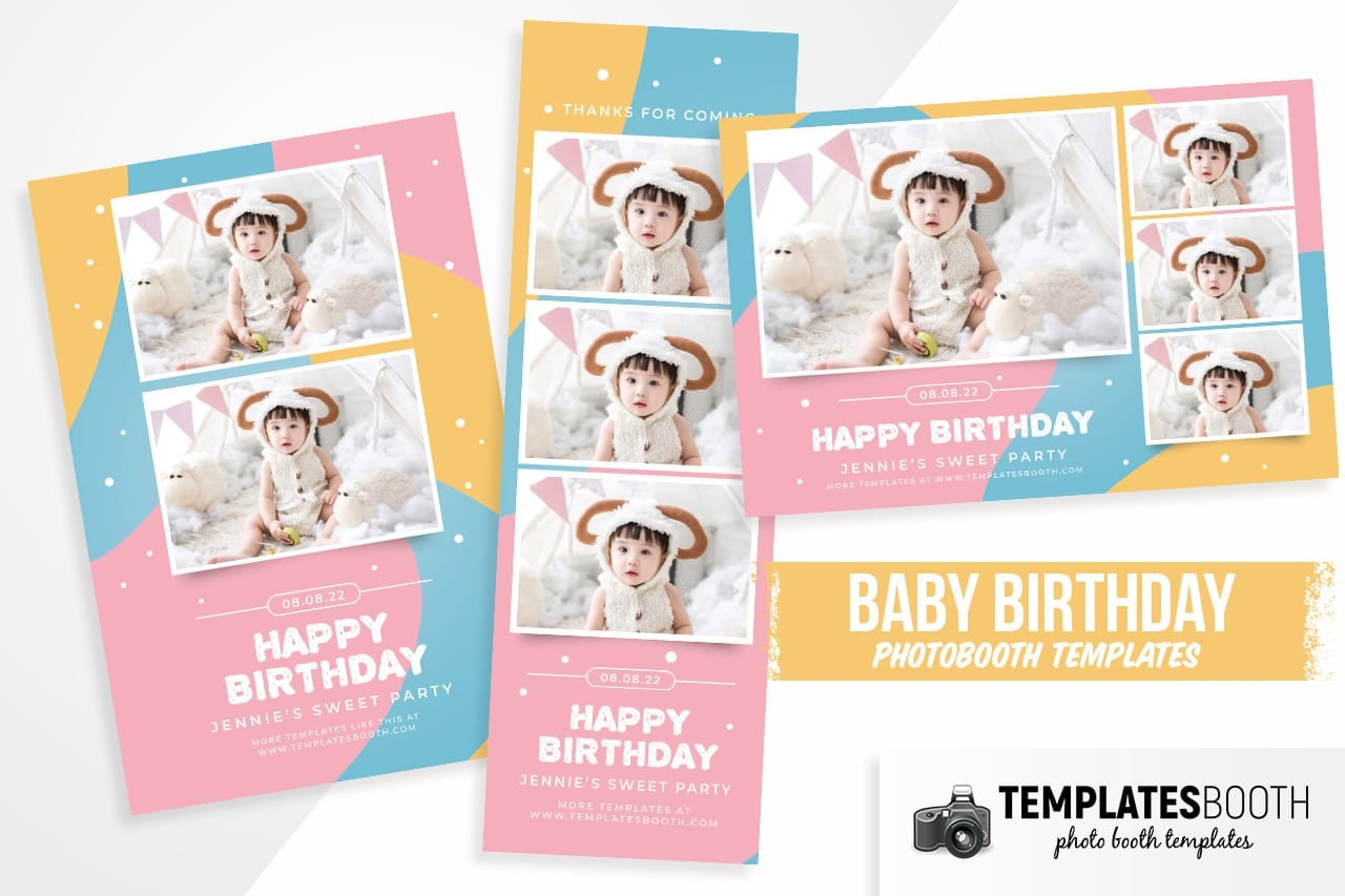 Baby Birthday Photo Booth Template