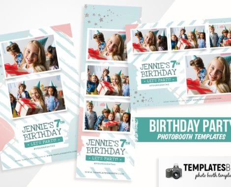 Birthday Party Photo Booth Template