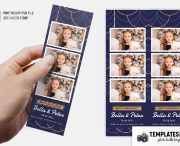 Elegant Deco Photo Booth Template (2x6 photo strip)