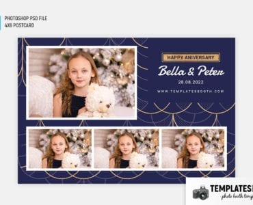 Elegant Deco Photo Booth Template (4x6 postcard)
