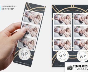 Golden Rings Photo Booth Template (2x6 photo strip)