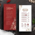 Ornate Christmas DL Menu Card Template