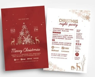 Rustic Christmas Flyer Templates