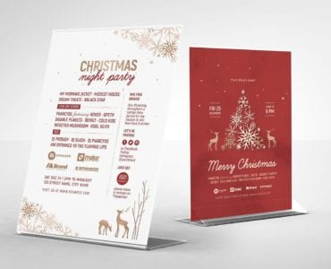 Rustic Christmas Table Tent Template (Back)