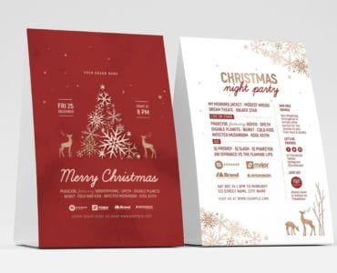 Rustic Christmas Table Tent Template (Front)