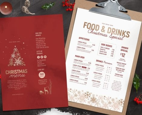 Ornate Christmas Menu Template