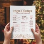 Ornate Christmas Menu Template (layout)