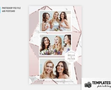 Rose Gold Photo Booth Template (4x6 postcard)
