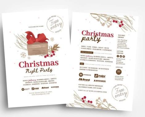 Rustic Christmas Flyer Templates